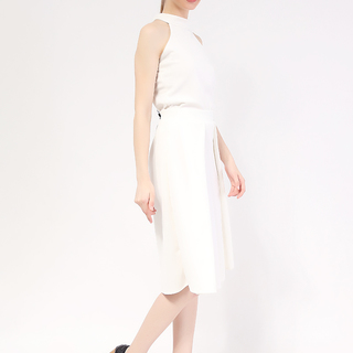 Terno White Haltered Top and Culottes in Neo Prene Fabric from Topmanila Clothing (White)