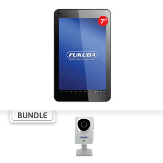 "Fukuda FCT-74AW8 7"" 8GB Tablet PC (Black) with Free FCM829-1FMS Baby Cam"