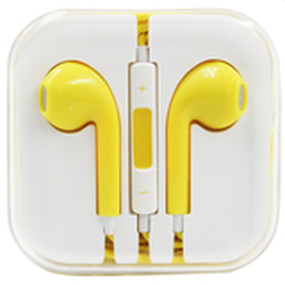 In-Ear Headphones for iPhone (Yellow)
