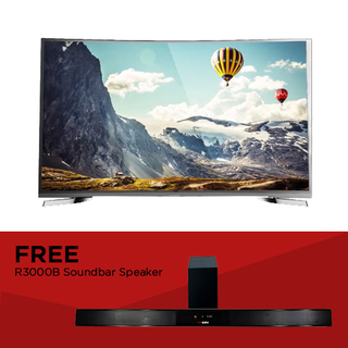 "EZY 55"" SMART CURVED 4K TV with FREE Soundbar Speaker (OPTION A)"