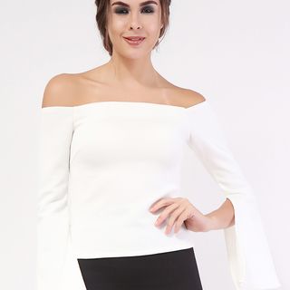 John & Frankie Store Morticia Bell Sleeves Off Shoulder Top