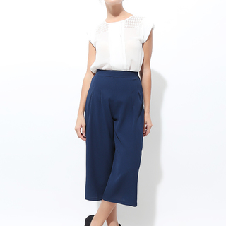 Gray Goods Blue Garterized Culottes (03-0122)