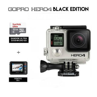 GoPro Hero 4 with Removu R1 Plus + 32GB Memory Card