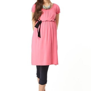 Mamaway Sweetheart Belted Maternity & Breastfeeding Dress 1213O (SALMON)