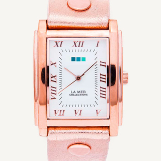 Square Oversize Watch -Rose Gold
