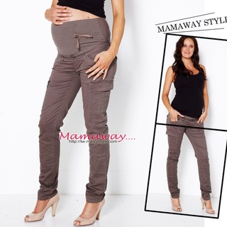 Slim leg maternity cargopants 11524C (WARM CHARCOAL)