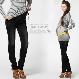 Skinny Look Maternity Jeggings - 13527X (BLACK)
