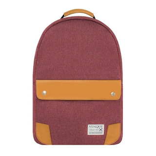 Venque Classic Laptop Backpack - Wine Red