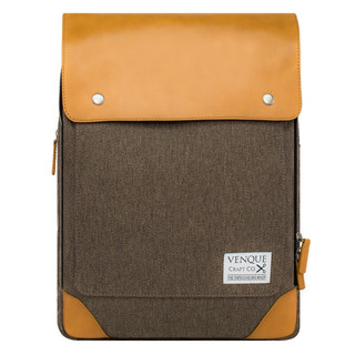 Venque Flatsquare Laptop Bag - Brown