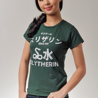 The Perfect White Shirt SLYTHERIN JAPANESE SHIRT (Female) Tee