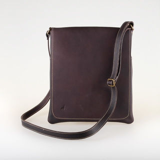 Fletcher and Derby Men's Bags - The Sling in Red Brown