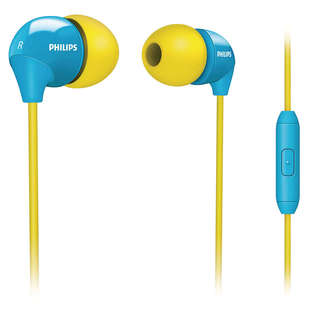 Philips in ear headsets with mic remote (SHE3575YB-98)
