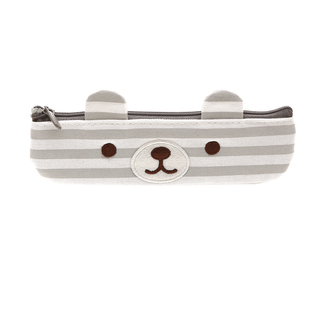 Artbox Bear Pencil Case (GRAY-WHITE)