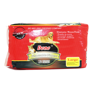 Dono Large Disposable Pet Diapers Pack of 12 DD003