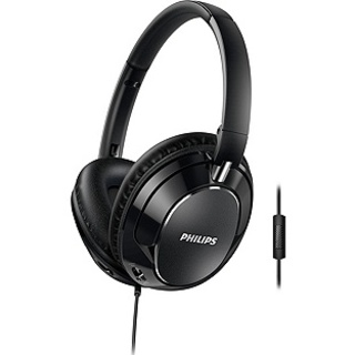 PHILIPS Lightweight & Foldable Headset 40mm Driver -­ Black (FX5M)