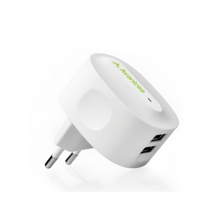 Avantree TR602 2.1A Dual USB Travel Charger  (WHITE)