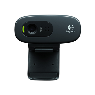 Logitech C270 HD Webcam (Black)