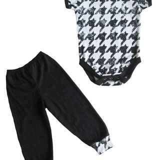 Hounds Tooth Onesie Set for Boys