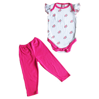 Bug & Kelly White Floral Onesie Set for Girls